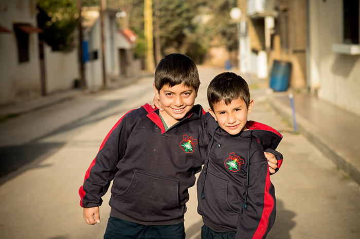 Both Haroun and Kevork are Syrian refugees in Lebanon, coming from Damascus and Aleppo. Photo: Håvard Bjelland.