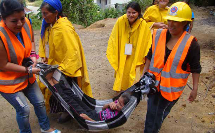 Women receive training in risk management. Photo: Juan José Rabanales / Norwegian Church Aid, Guatemala.