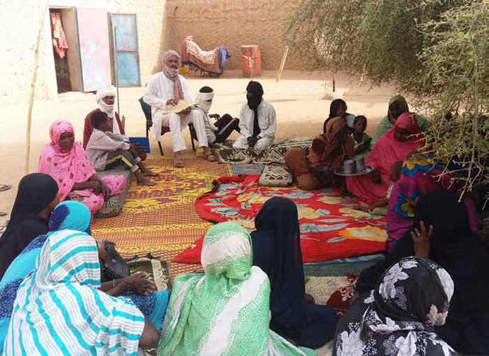Women in a REFLECT group trained in peacebuilding, Kidal. Photo: Itous Bacrene / Norwegian Church Aid, Mali.
