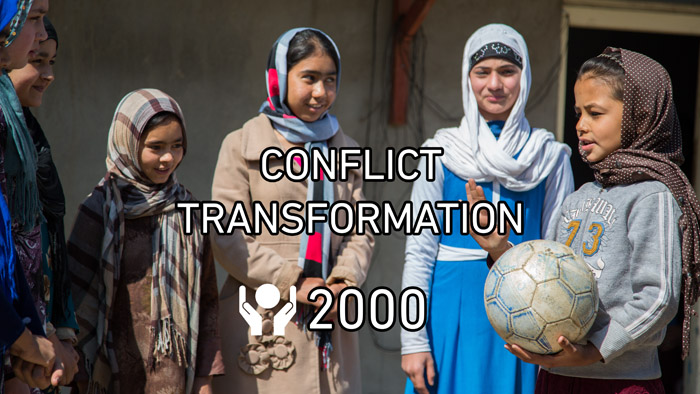 In 2016, more than 2000 women and youth were trained in conflict transformation through our peacebuilding program, which have shown to greatly increase the chance of finding a non-violent solution.