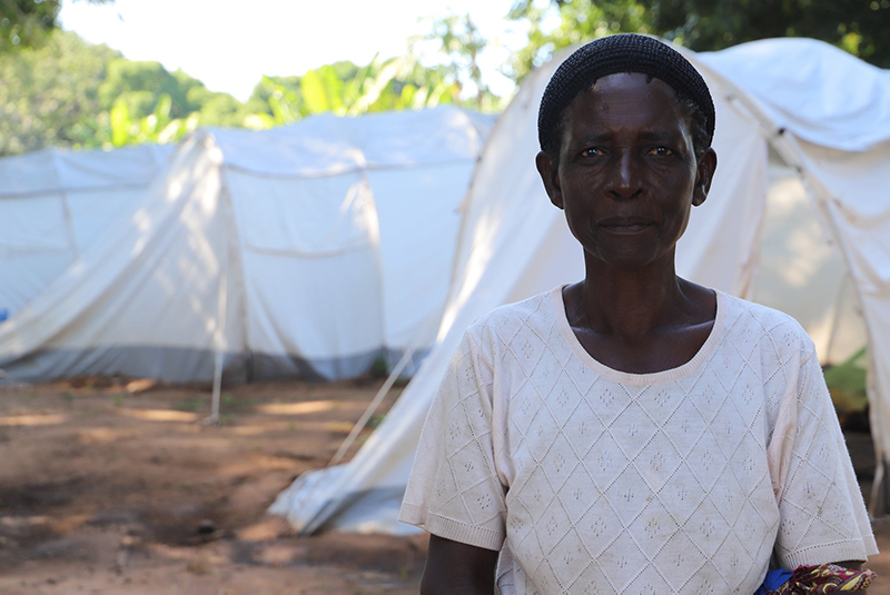Winsei Kalagho, one of the internally displaced people due to flash floods in Karonga district. Photo: NCA/Håvard Hovdhaugen