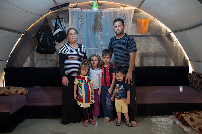 The Kheder family had to flee when IS attacked Sinjar. They now live as IDPs in a camp outside of Dohuk. Photo: Håvard Bjelland