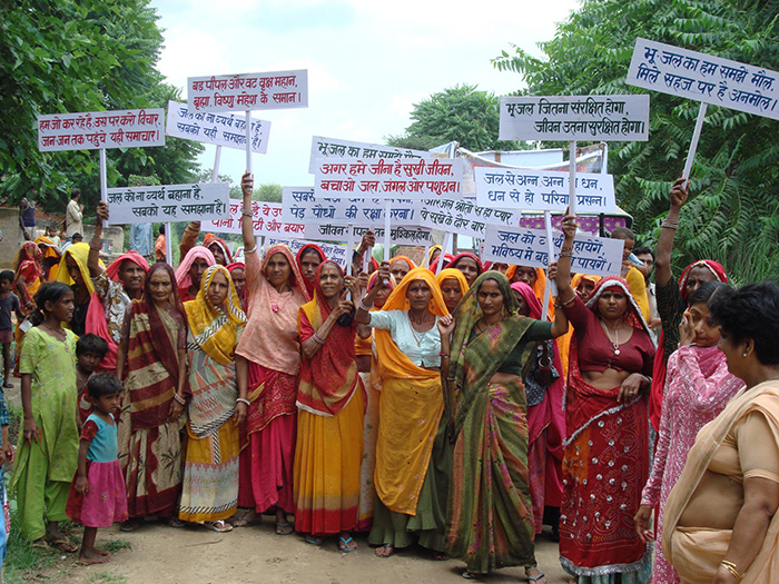 Women demonstrate in India
