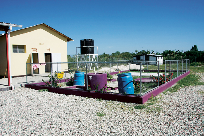 Biodigester in a school, Haiti. Photo: Norwegian Church Aid